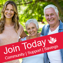 Join Today.  Community | Support | Savings