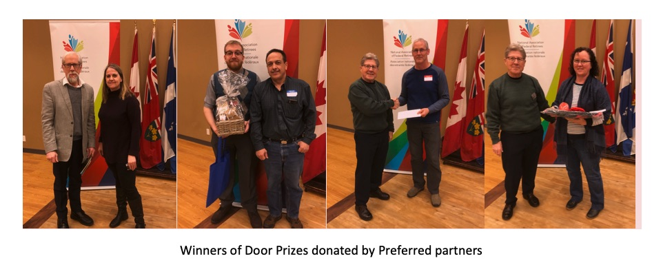 Winners of Door Prizes donated by Preferred Partners.
