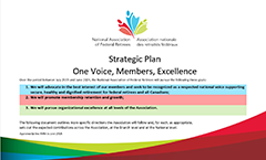 Strategic Plan 2019-2024:  One Voice, Members, Excellence.