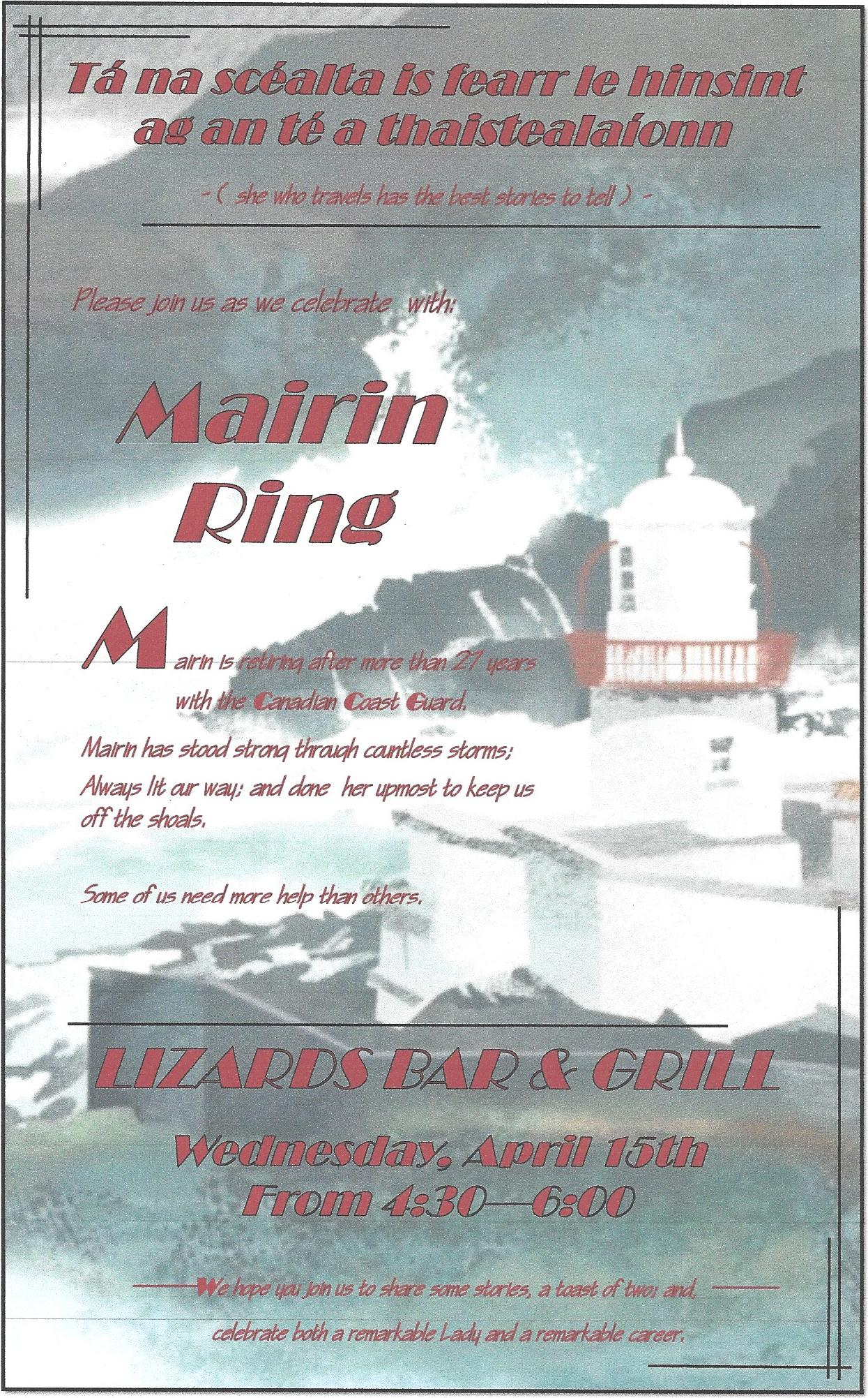 Mairin Ring Retirement Poster