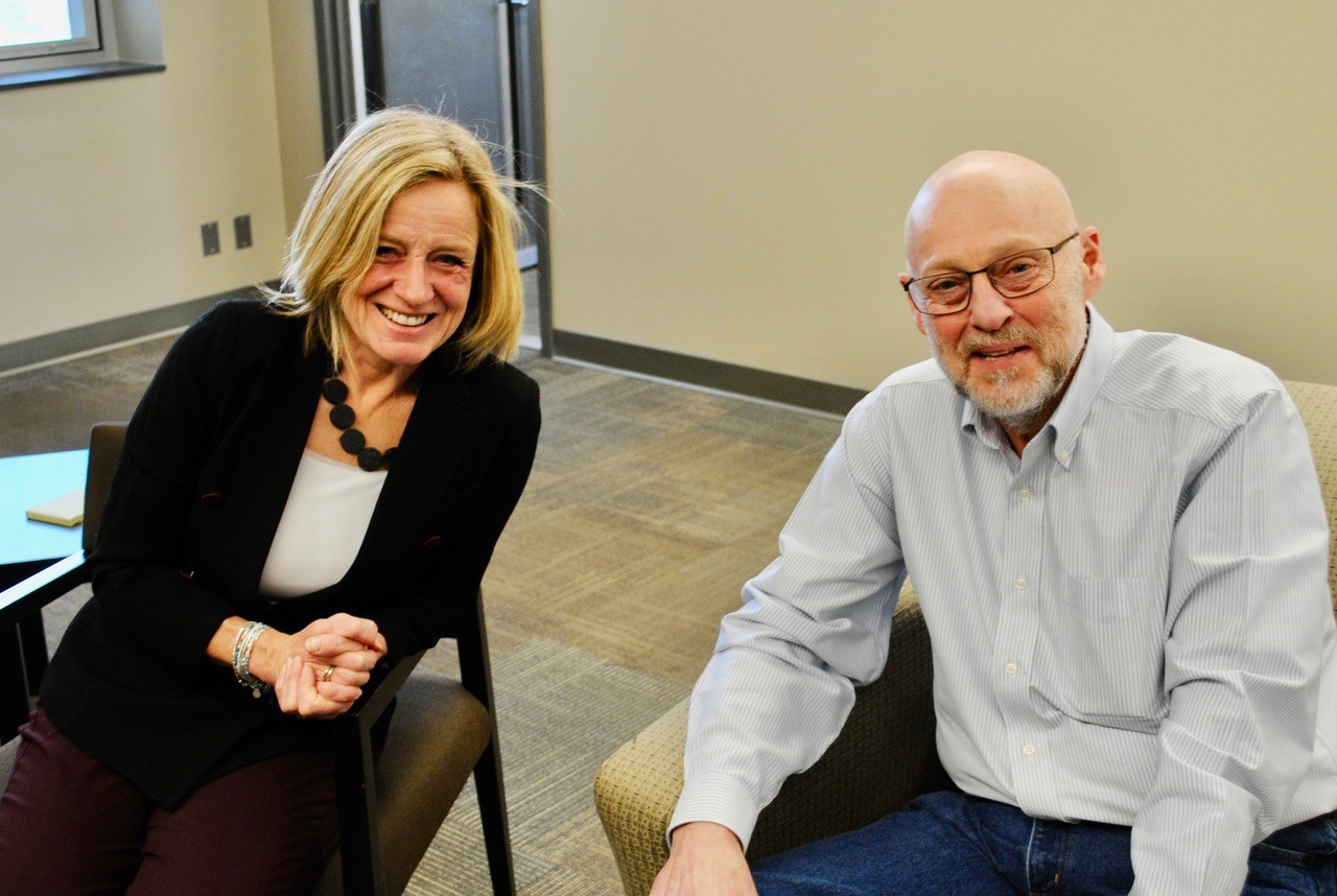 Rick Brick with Rachel Notley