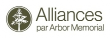 Le logo : Alliances par Arbor Memorial.